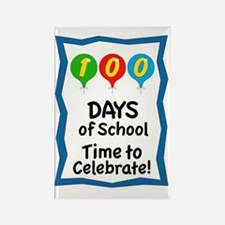 100 Days of School Balloon Rectangle Magnet