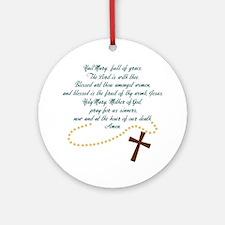 Hail Mary Round Ornament