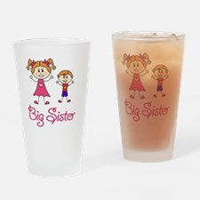 Big Sister with Little Brother Drinking Glass