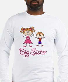 Big Sister with Little Brother Long Sleeve T-Shirt