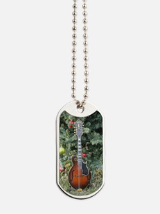 Gibson Mandolin Under the Christmas Tree Dog Tags