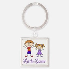 Little Sister Personalized! Square Keychain