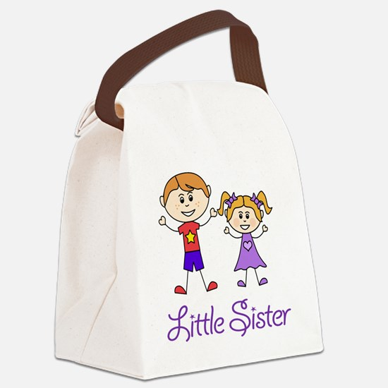 Little Sister Personalized! Canvas Lunch Bag