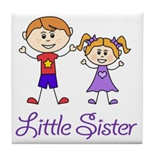 Little Sister Personalized! Tile Coaster