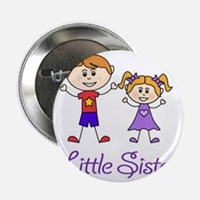 """Little Sister Personalized! 2.25"""" Button"""