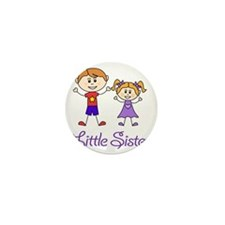 Little Sister Personalized! Mini Button