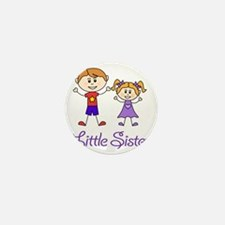 Little Sister Personalized! Mini Button
