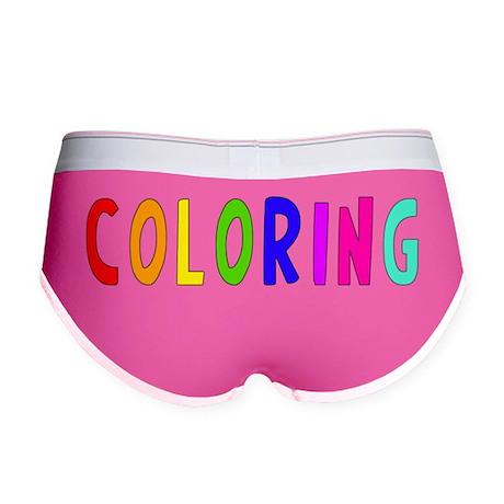 Coloring blk Women's Boy Brief