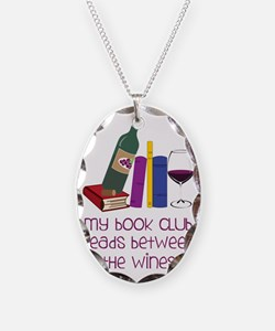 My Book Club Necklace Oval Charm