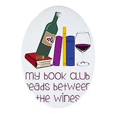 My Book Club Oval Ornament