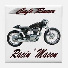 Cafe Racer Masons Tile Coaster