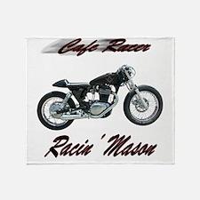 Cafe Racer Masons Throw Blanket
