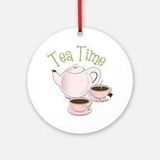 Tea Time Round Ornament