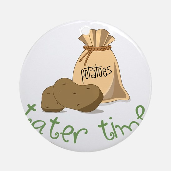 Tater Time Round Ornament