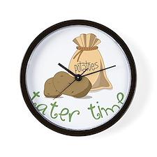 Tater Time Wall Clock