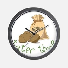 Tater Time Wall Clock