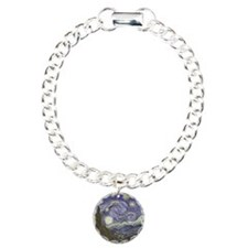 Van Gogh Starry Night Charm Bracelet, One Charm