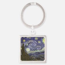 Van Gogh Starry Night Square Keychain