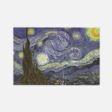 Van Gogh Starry Night Rectangle Magnet