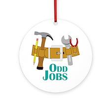 Odd Jobs Round Ornament