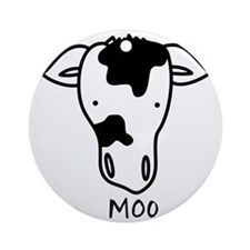 Moo Round Ornament