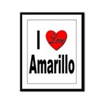 I Love Amarillo Framed Panel Print