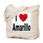 I Love Amarillo Tote Bag
