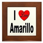 I Love Amarillo Framed Tile