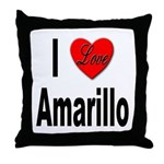I Love Amarillo Throw Pillow