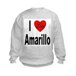 I Love Amarillo (Front) Kids Sweatshirt