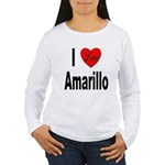 I Love Amarillo (Front) Women's Long Sleeve T-Shir