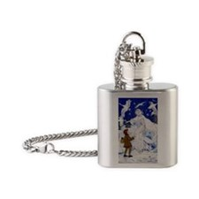 Snow Queen Enhanced Colors Flask Necklace