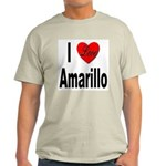 I Love Amarillo (Front) Light T-Shirt