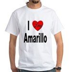 I Love Amarillo (Front) White T-Shirt