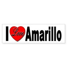 I Love Amarillo Bumper Bumper Sticker