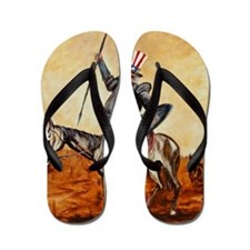 Uncle Sam Flip Flops