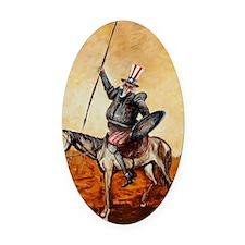 Uncle Sam Oval Car Magnet