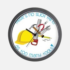 Too Many Tools Wall Clock