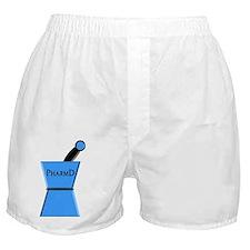 pharmD plain blue Boxer Shorts
