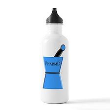 pharmD plain blue Water Bottle
