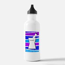 pharmd pattern blue Water Bottle