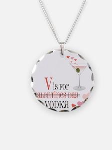 V Is For Vodka Necklace