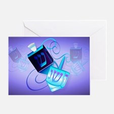 Yard Sign-Two Dreidels-Happy Spinnin Greeting Card