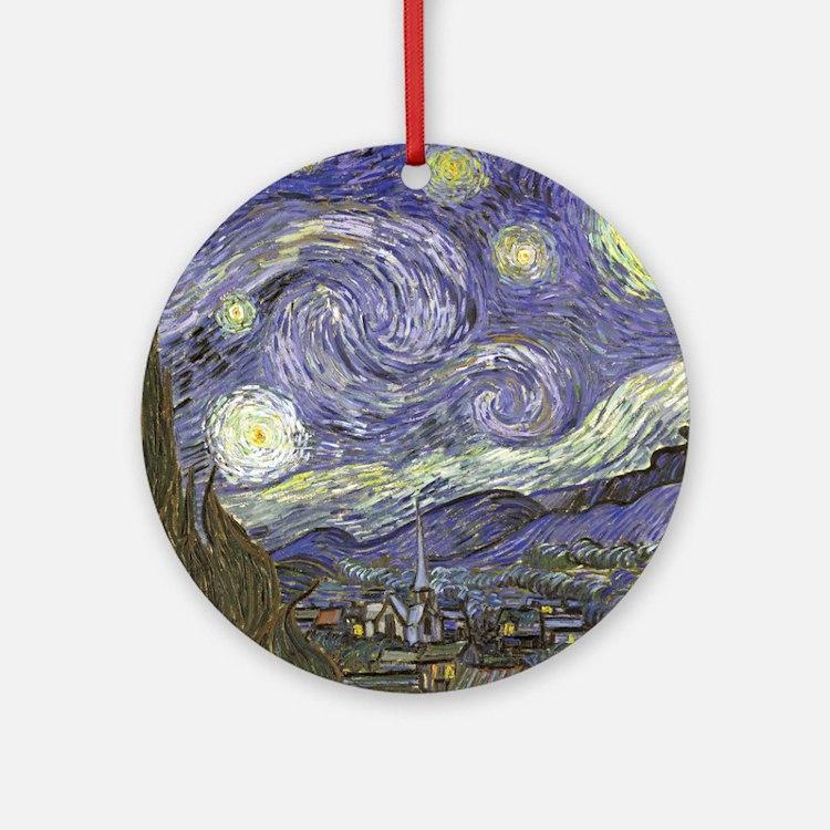 Van Gogh Starry Night Round Ornament