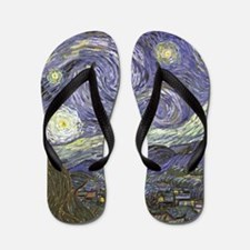 Van Gogh Starry Night Flip Flops