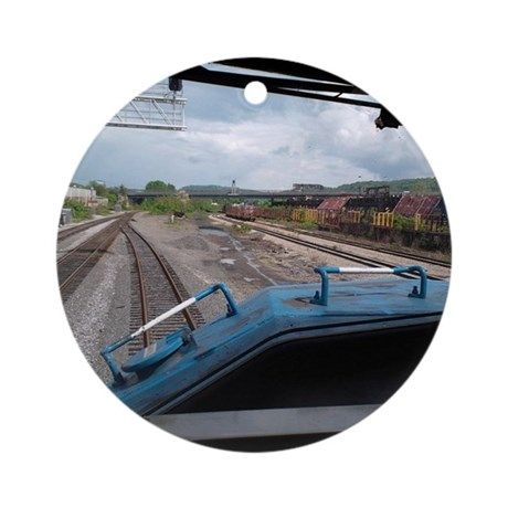 Conrail Ride Along Round Ornament
