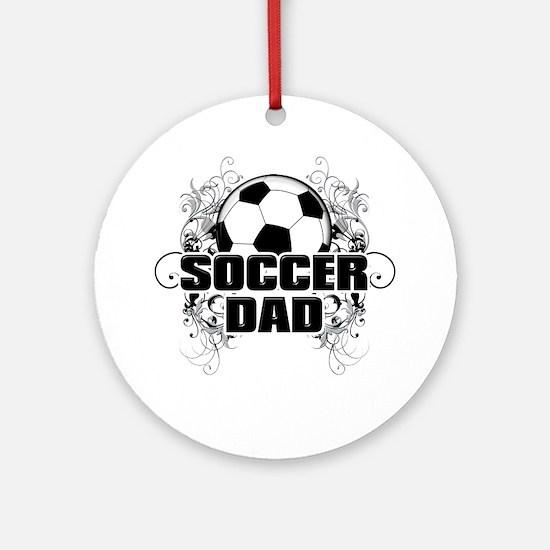 Soccer Dad (cross) copy Round Ornament