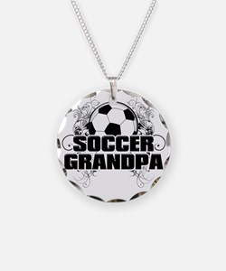Soccer Grandpa (cross) Necklace
