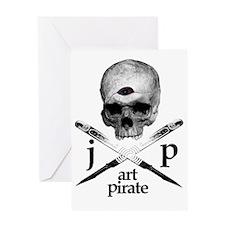 Art Pirate Logo Greeting Card