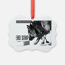 nose work german shepard dog  Ornament